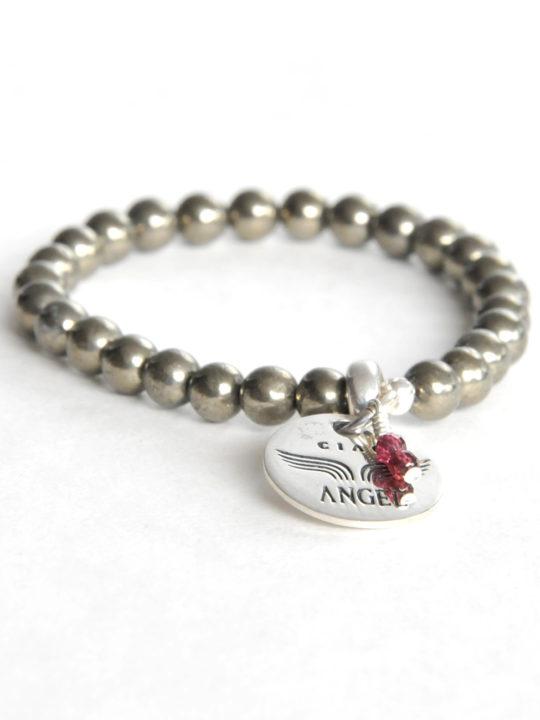 240 bracelet gemme pyrite
